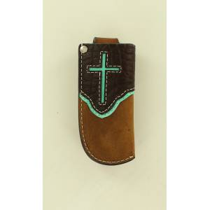Nocona Cross Overlay Pocket Knife Sheath