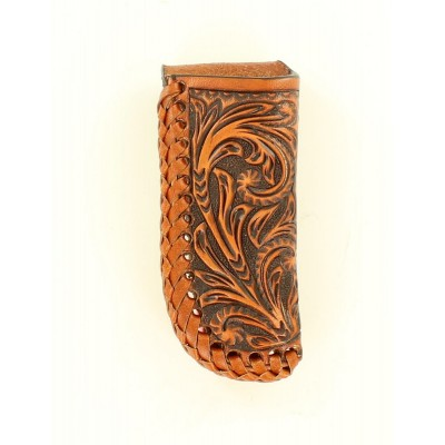 Nocona Embossed Leather Laced Pocket Knife Sheath