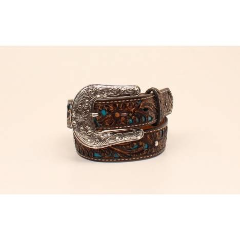 Ariat Rhinestone Sparkly Floral Belt - Girls
