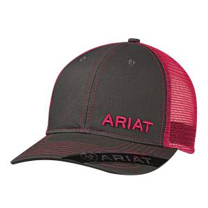 Ariat Mesh Snapback Off Set Logo Ball Cap - Mens