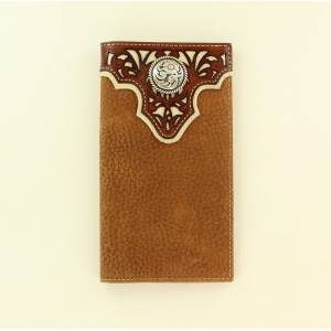 Ariat Floral Overlay Western Scroll Concho Rodeo Wallet