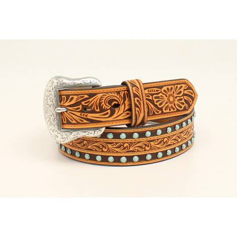 Nocona Embossed Stone Belt With Removable Buckle - Mens