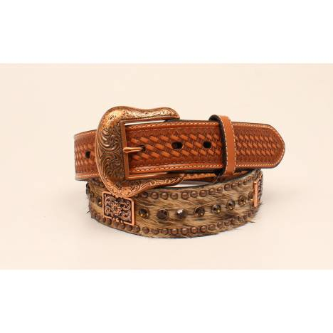 Nocona Hair On Rhinestone And Concho Buckle - Mens