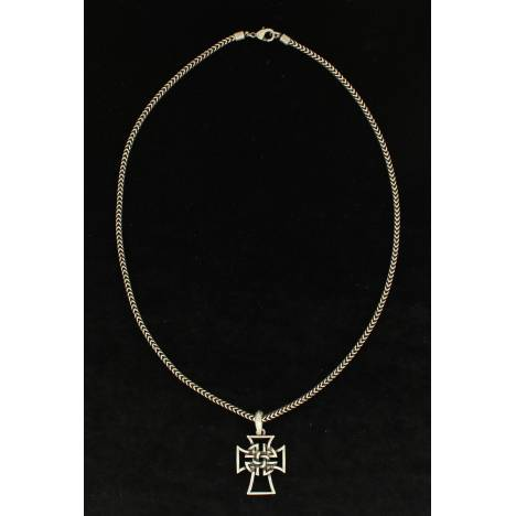 Twister Celtic Cross Chain Necklace - Mens