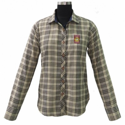Tuffrider Baker Long Sleeve Show Shirt - Ladies - Baker Plaid