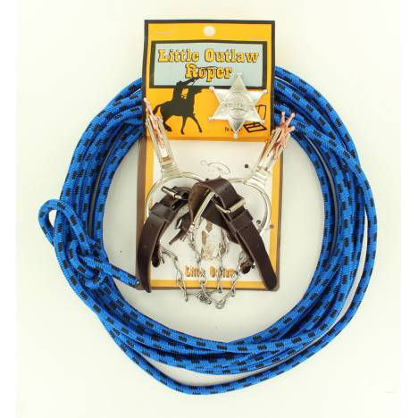 Little Outlaw Kids Rope Spurs And Badge Set