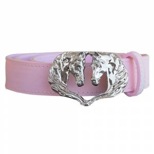 WOW Ladies Double Horse Head Buckle Belt