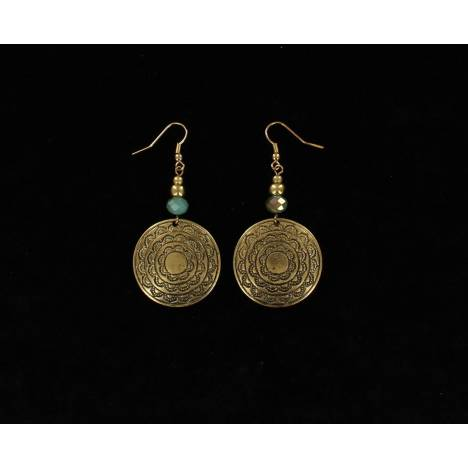 Blazin Roxx Embossed Disc Bead Earrings