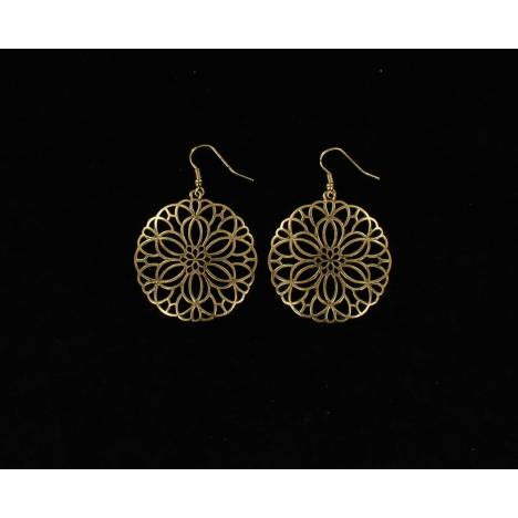 Blazin Roxx Floral Disc Earrings