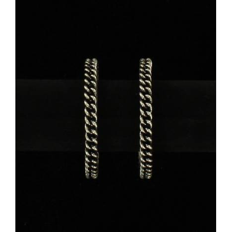 Blazin Roxx Rope Hoop Earrings