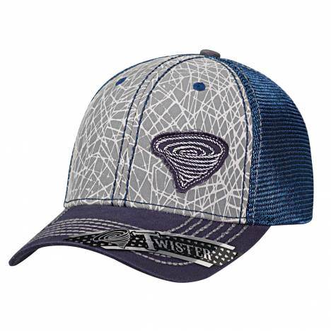 Twister Mens Abstrct Offset Logo Hat