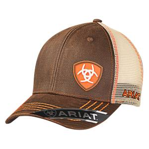 Ariat Mens Oilskin Offset Rubber Logo Hat