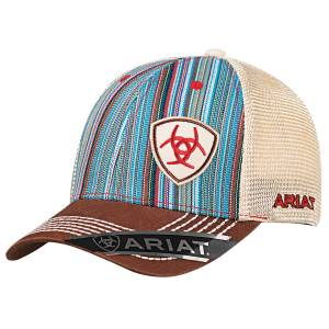 Ariat Mens Pinstripe Offset Logo Hat