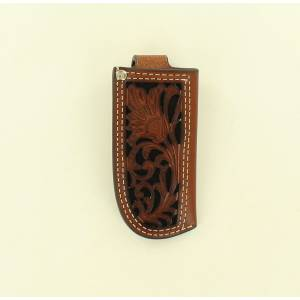 Nocona Pierced Leather Pocket Knife Sheath