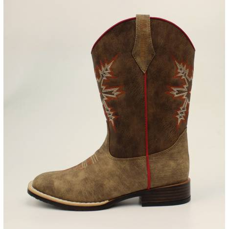 Dbl Barrel Childrens Clay Western Boot