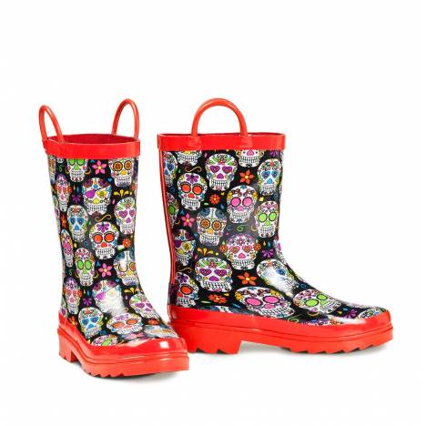 Blazin Roxx Girls Jentri Colorful Skull Rain Boots