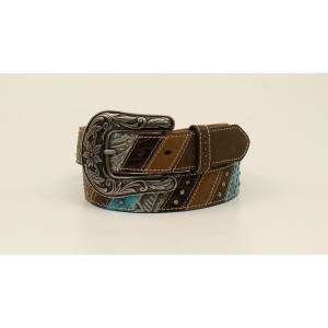 Ariat Ladies Diagonal Nailhead Western Belt