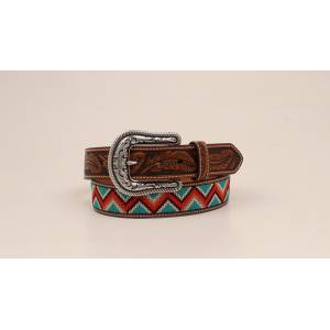 Ariat Ladies Chevron Leather Tab Western Belt