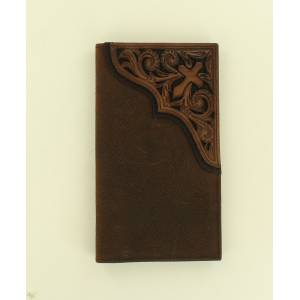 Ariat Rodeo Pierced Scroll Cross Wallet