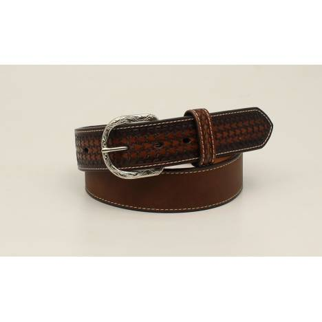 Nocona Mens Classic Ribbon Knot Diamond Concho Belt