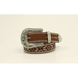 Ariat Ladies Aztec Ribbon Nailhead Belt