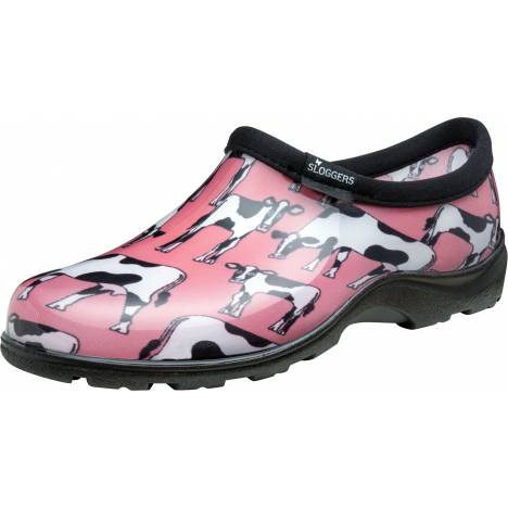 Sloggers Ladies Waterproof Comfort Shoes - Cowbella Pink