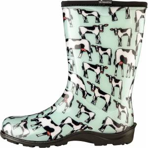 Sloggers Ladies Waterproof Comfort Boots - Cowbella Mint