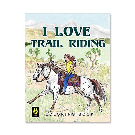 I Love Trail Riding Coloring Book