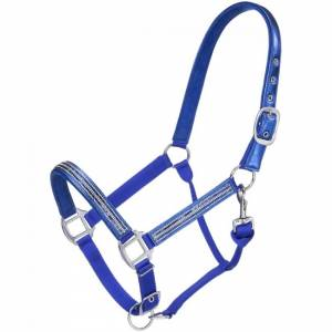 Tough 1 Adjustable Foil Crystal Overly Nylon Halter