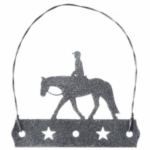 Tough 1 Equine Motif Glitter Finish Ornament - English