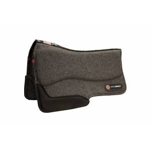 T3 Western Wool Felt Barrel Pad with Ortho-Impact 3/4