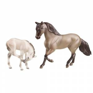 Breyer Stablemate Horse and Foal Set - Grulla