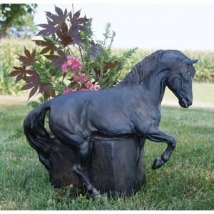 Forge Hill Horse And Flower Sculpted Pot