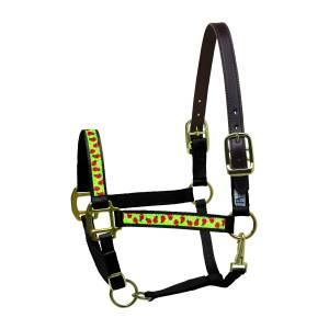 Perri's Leather Ribbon Safety Halter - Ladybugs