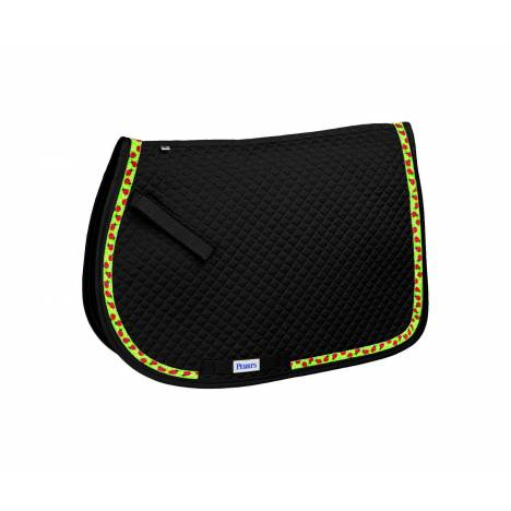 Perri's Pony Saddle Pad with Ribbon Trim - Ladybugs