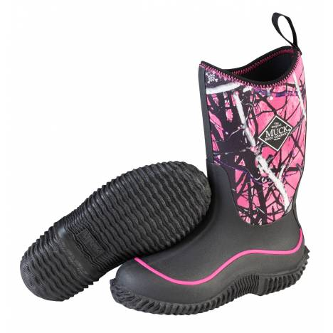 Muck Boots Hale Boots - Kids - Black Muddy Girl
