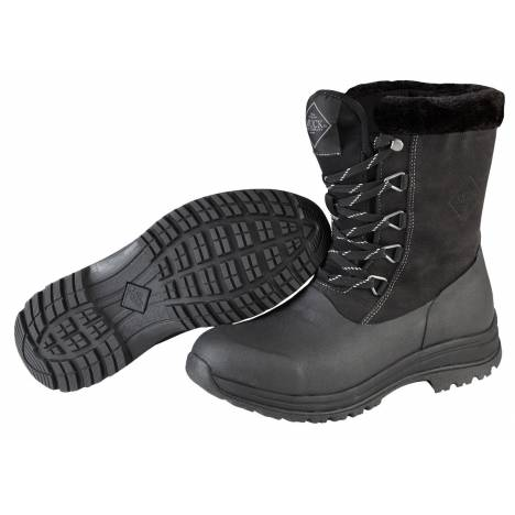 Muck Boots Arctic Apres Lace Mid Boot - Ladies - Black Charcoal