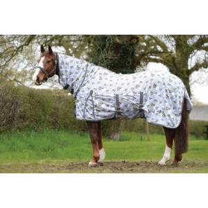 Saxon Mesh Combo Neck Fly Sheet - Bee Print