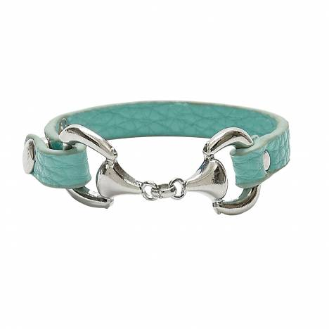 Faux Leather Stackable Snaffle Bit Bracelet