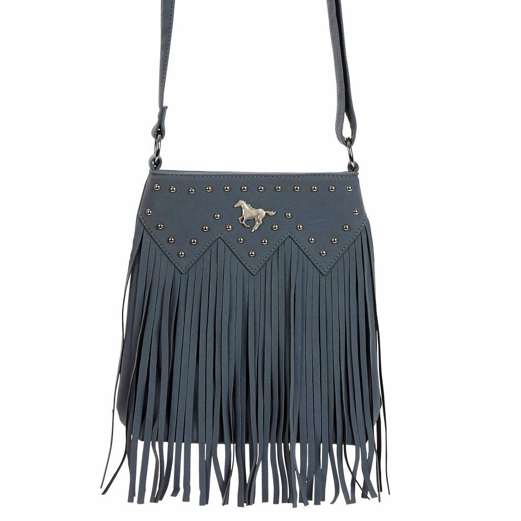 Fringed Crossbody Horse Nailhead Purse