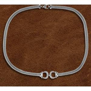 Kelly Herd Silver Bit Necklace - Ladies
