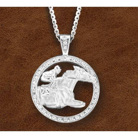 Kelly Herd Silver Race Horse Necklace - Ladies