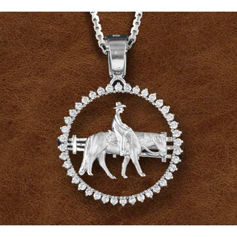 Kelly Herd Stone Circle Ranch Horse Pendant - Sterling Silver