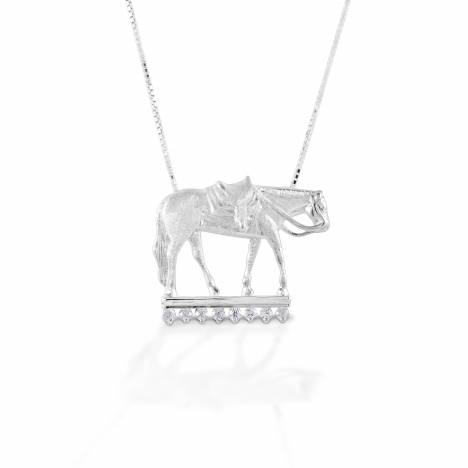 Kelly Herd Large Western Pleasure Horse - Sterling Silver
