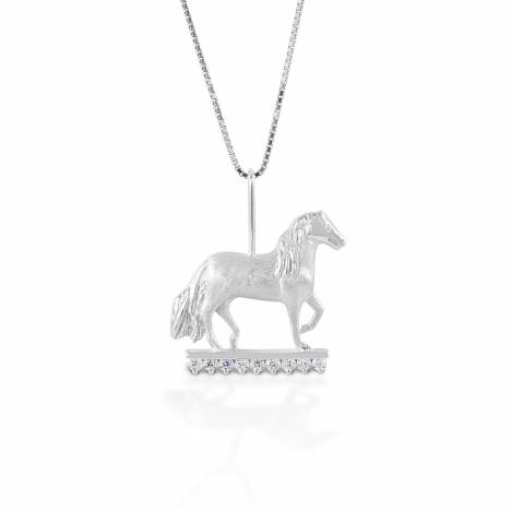 Kelly Herd Clear Stone Paso Fino Pendant - Sterling Silver