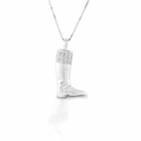 Kelly Herd English Boot Necklace - Sterling Silver
