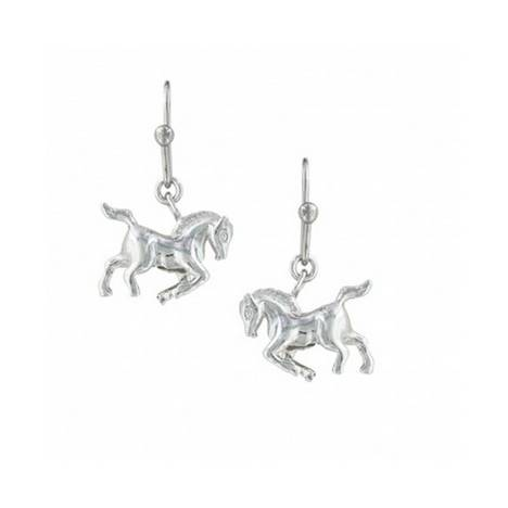 Montana Silversmiths Cowboy Way Horse Earrings