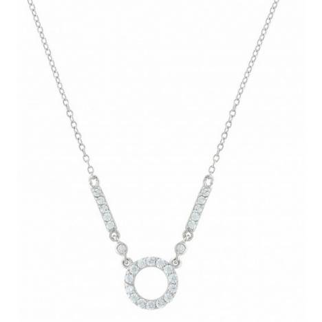 Montana Silversmiths Bar Circle Bar Brand Cubic Zirconia Necklace
