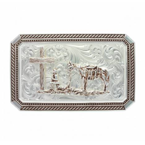 Montana Silversmiths Braided Edge Rectangle Christian Cpwboy Buckle