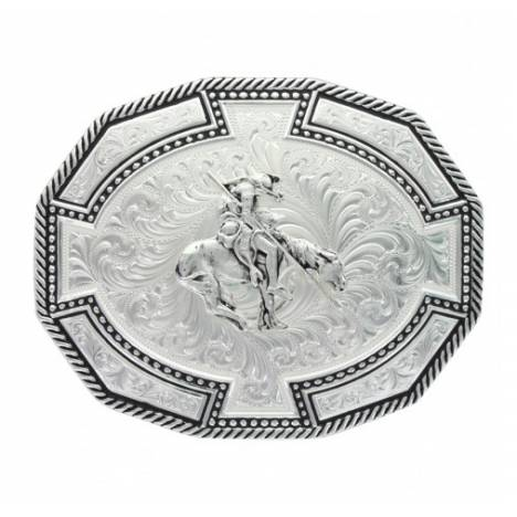 Montana Silversmiths Braided Edge Dodecagon End Of Trail Buckle